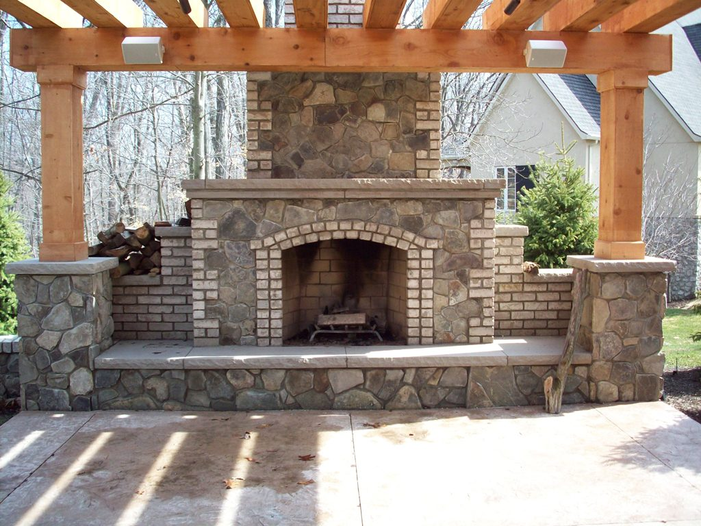 Brick Outdoor Fireplace Design Fireplace Design Ideas