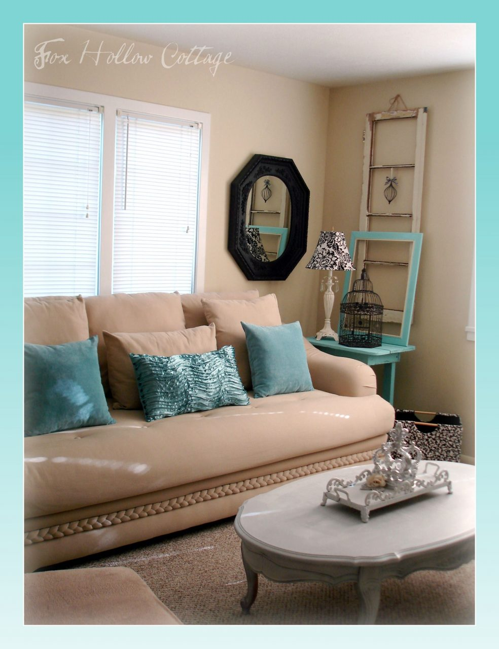 Brown And Aqua Living Room Pictures Living Room Ideas