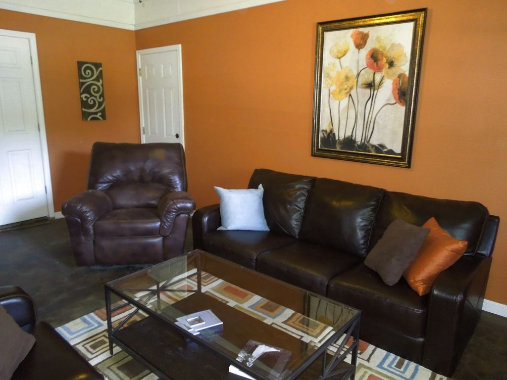 Burnt Orange And Brown Living Room Decor Living Room Ideas