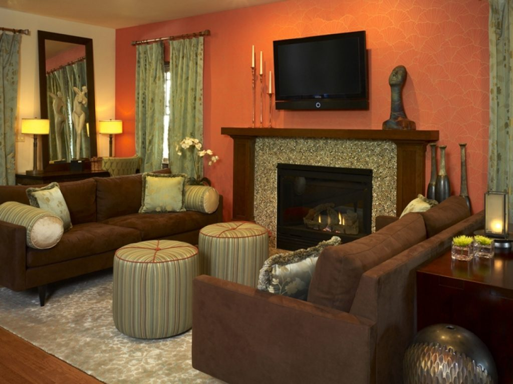 Burnt Orange And Olive Green Living Room Living Room Ideas