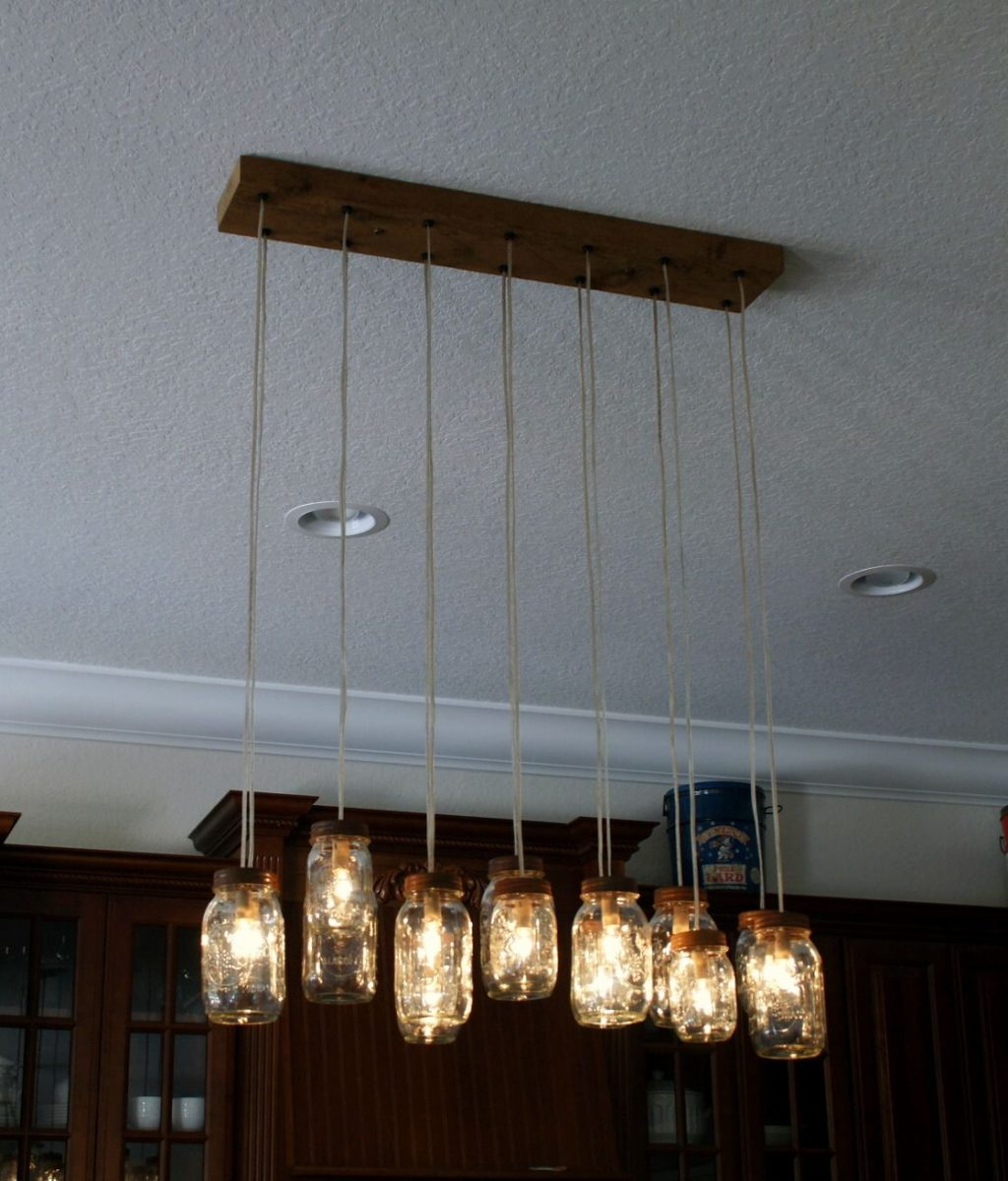 Buy A Hand Made 14 Light Mason Jar Chandelier Rustic Cedar Made
