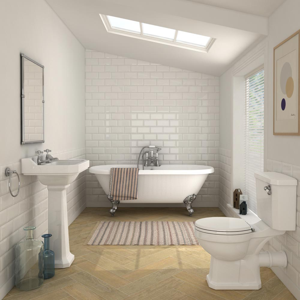 Carlton Traditional Double Ended Freestanding Bath Suite At