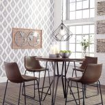 Centiar Two Tone Brown Mid Century Style Dining Room Table Set