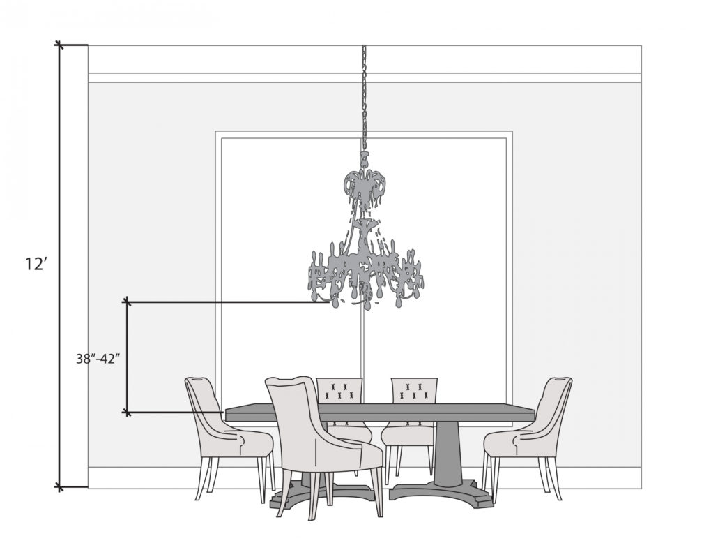 Chandelier Enticing Height Of Chandelier Above Table Applied To