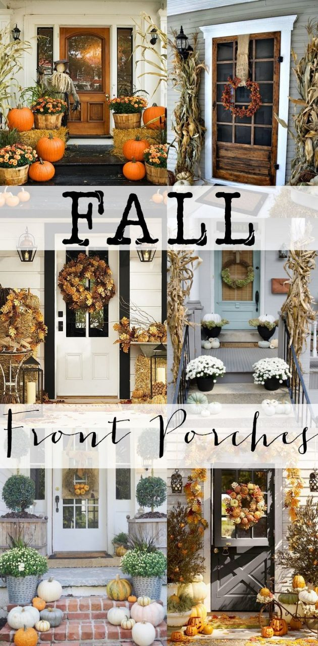 Check Out All These Amazing Fall Front Porches For Tons Of