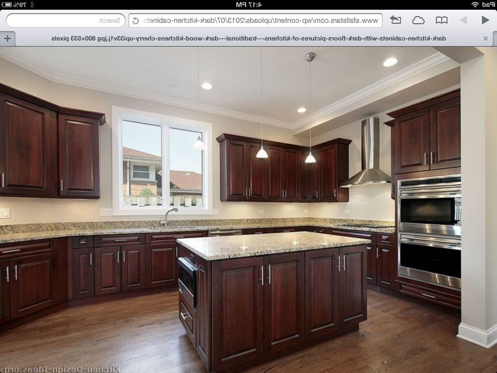 Cherry Kitchen Cabinets With Wood Floors Hickory Floors Cherry