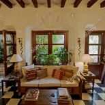 Classic Mexican Living Room With Contemporary Furniture As Seen