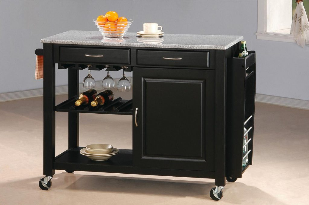 Coaster Kitchen Carts Kitchen Cart With Granite Top Value City