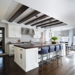 Coffered Kitchen Ceilings Kitchen Transitional With Dark Wood