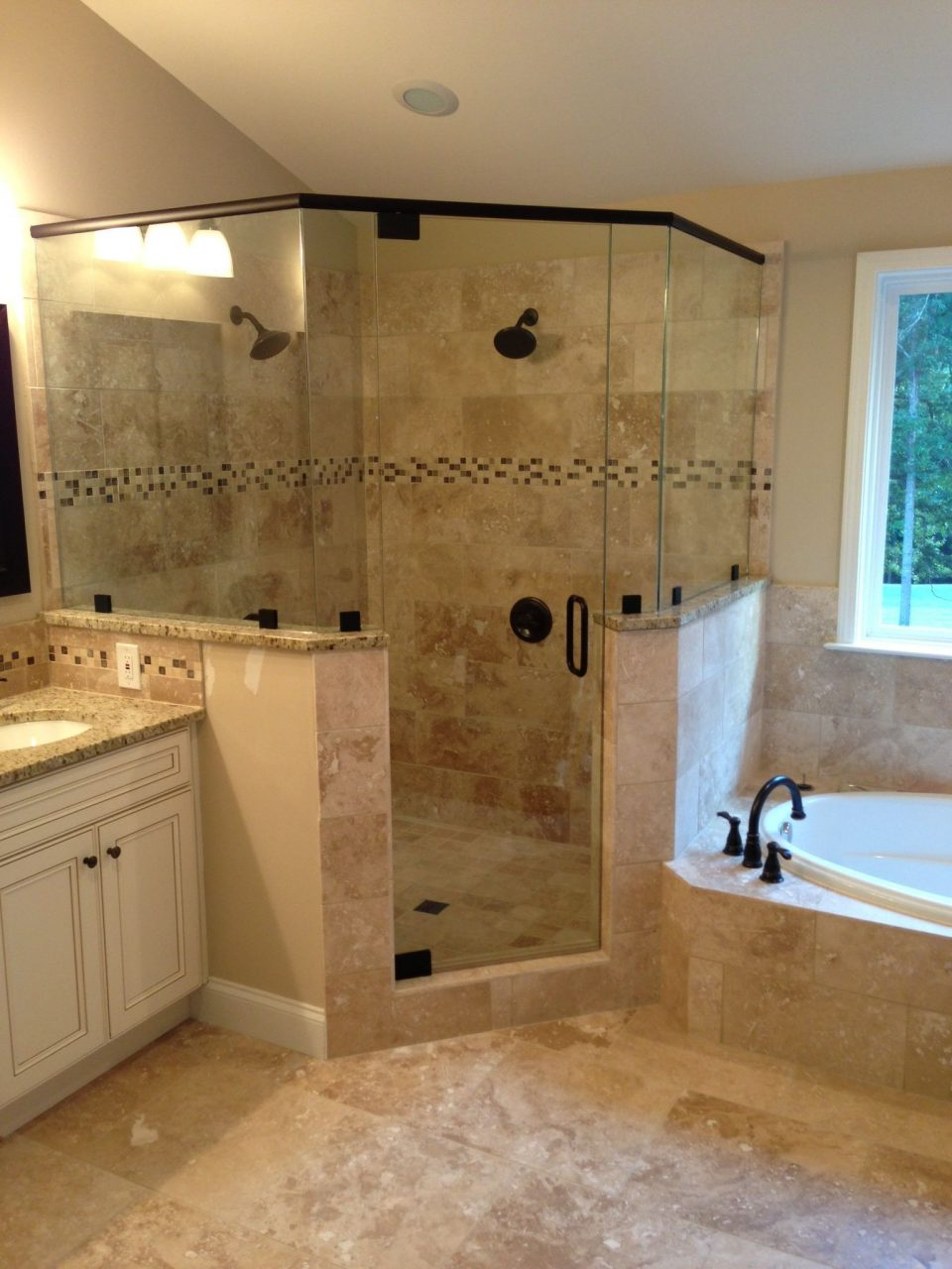 Consider Double Shower Head And Layout Consider Tile Inlay