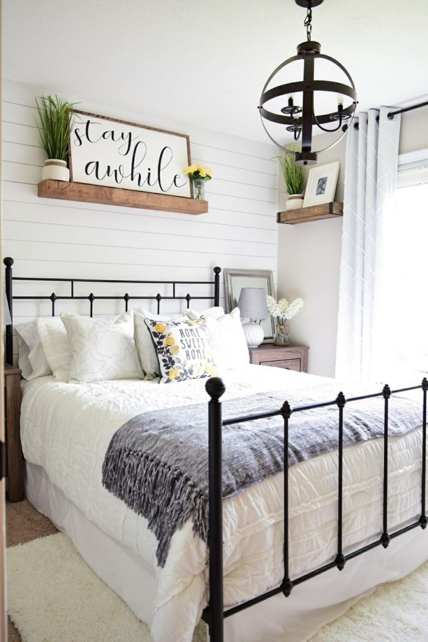 Cozy Modern Farmhouse Guest Bedroom Check Out More At On Instagram