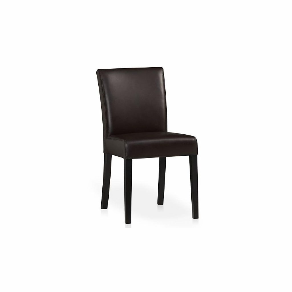 Crate Barrel Lowe Chocolate Leather Dining Chairs Aptdeco
