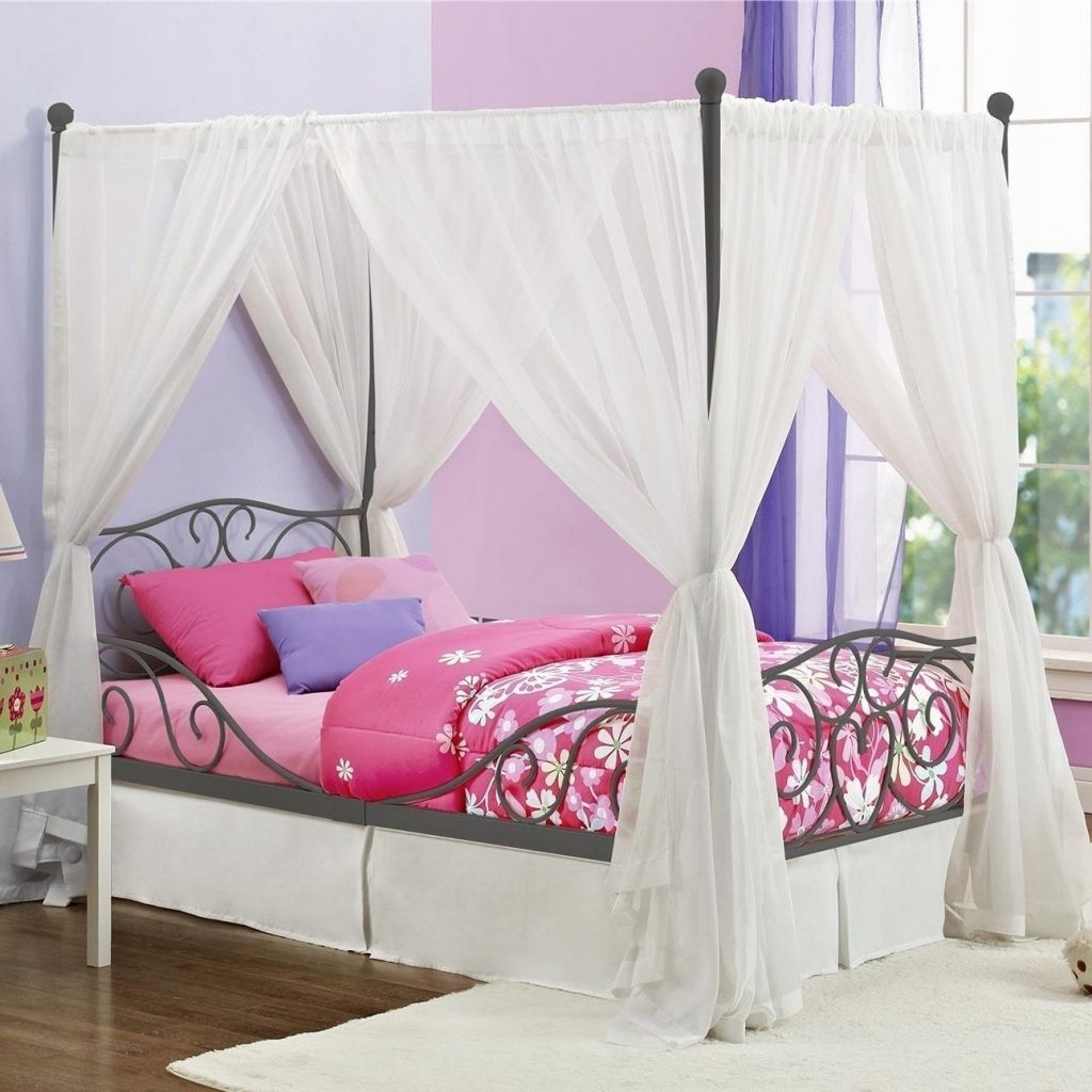 Curtain Twin Bed Canopy Curtains Curtain Rods For Canopy Bed