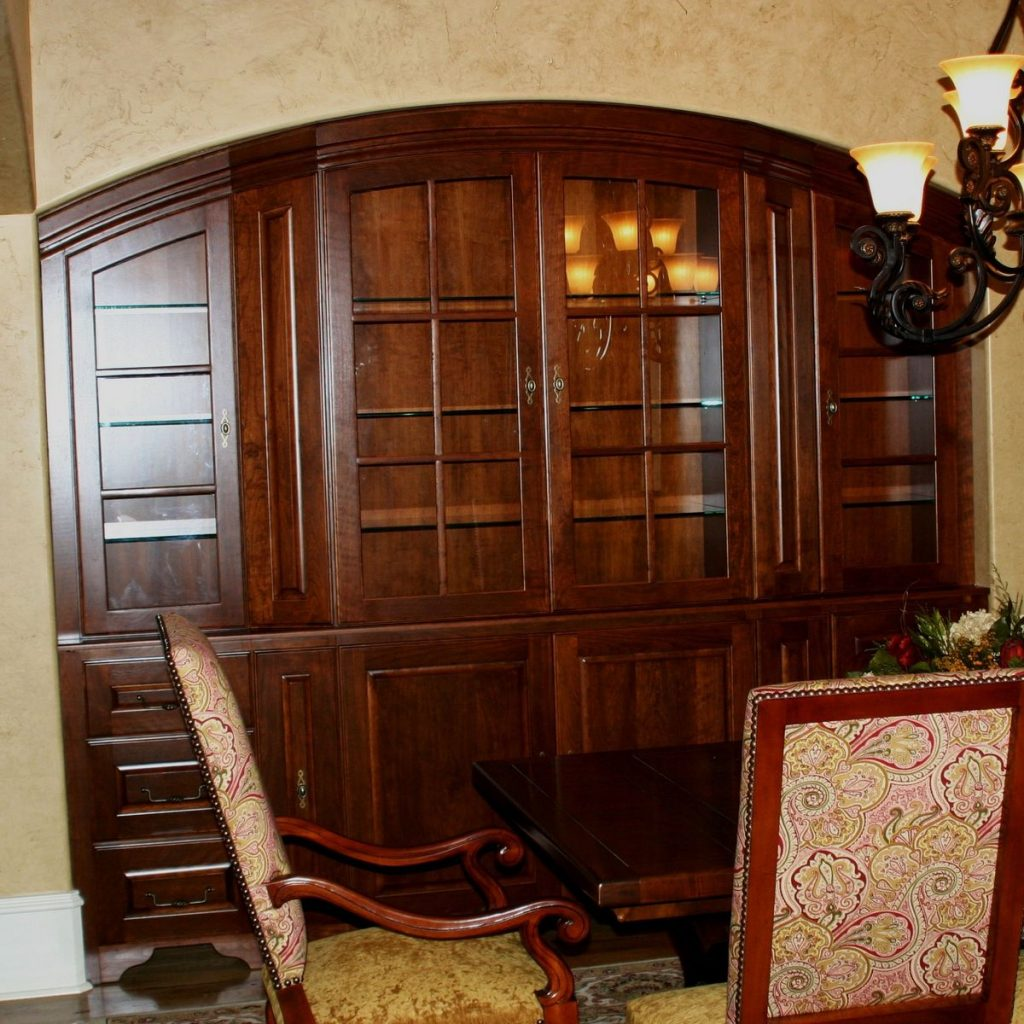 Custom Cherry Dining Room China Cabinet Carolina Wood Designs