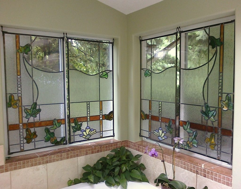 Custom Made Stained Glass Bathroom Windows Chuck Franklin Glass
