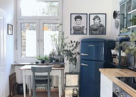 Cute Vintage Style Kitchen