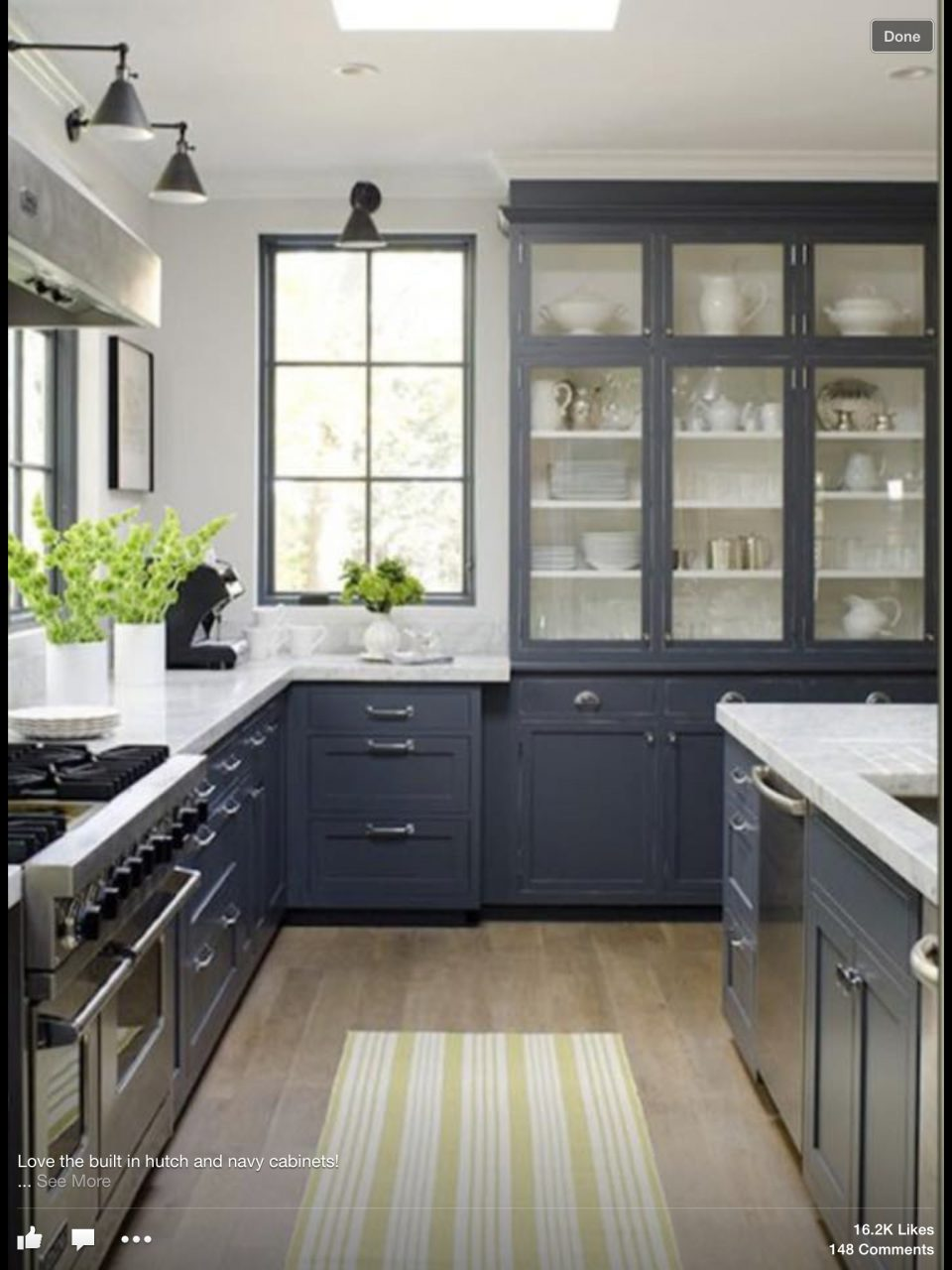 Dark Grey Kitchen Cabinets White Walls Black Windowlove