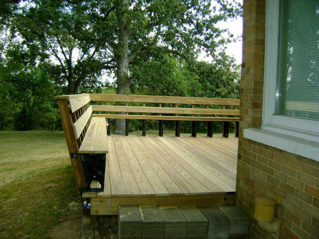 Deck Bench Ideas Design Railing Plans Storage Step 04 Composite