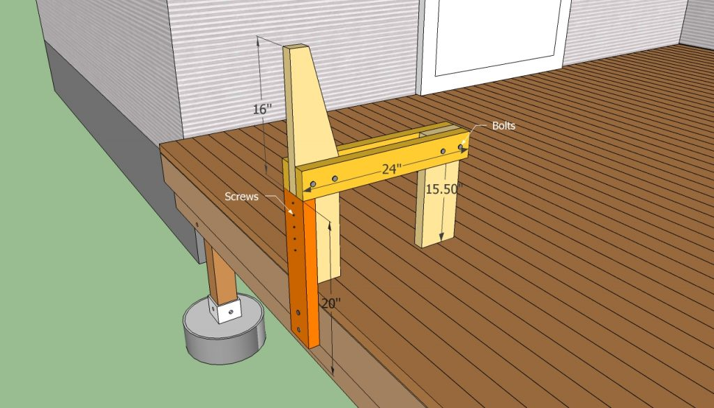Deck Bench Plans Free Howtospecialist How To Build Step Step