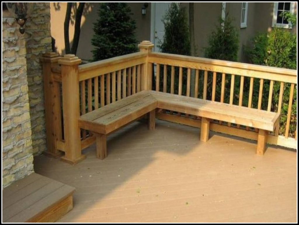 Deck Railing With Bench Seating Decks Home Decorating Ideas