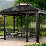 Decoration Fold Up Gazebo Metal Gazebo Canopy Outdoor Covered Gazebo