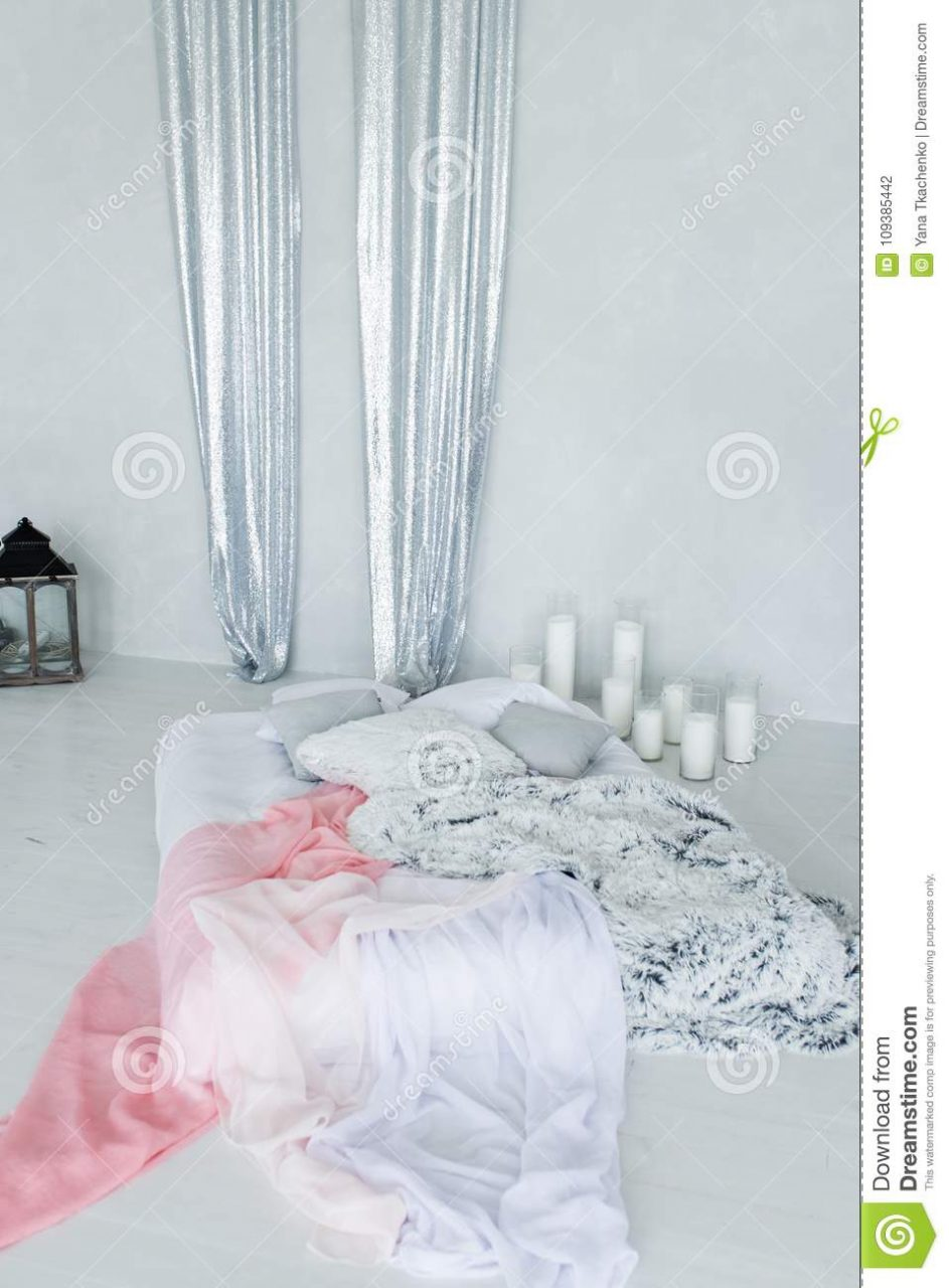 Decorative Bed Canopy In Calm And Relaxing Bedroom With A Lot Of