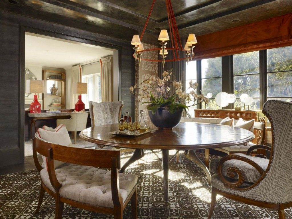 Deluxe Contemporary House Modern Dining Room Interior Design With