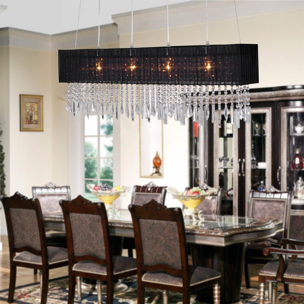Design Trend With Dining Room With Crystal Chandelier Combine