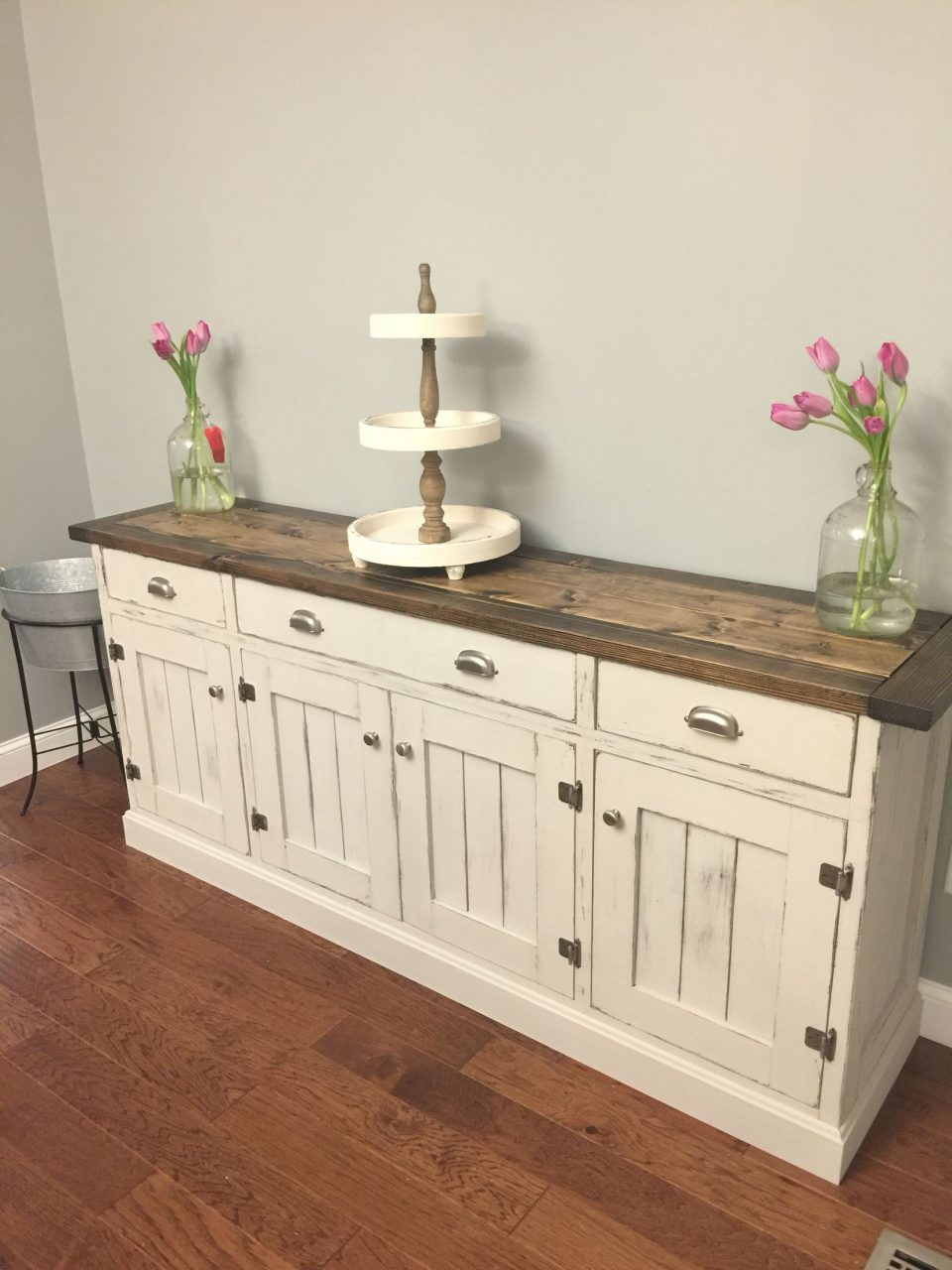 Dining Room Buffet So Pretty Love The Two Tone Finish Rustic