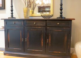Black Dining Room Buffet Sideboard
