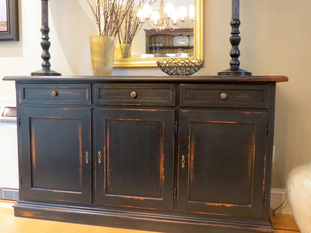 Dining Room Enchanting Dark Wood Buffet Sideboard Applied To Your