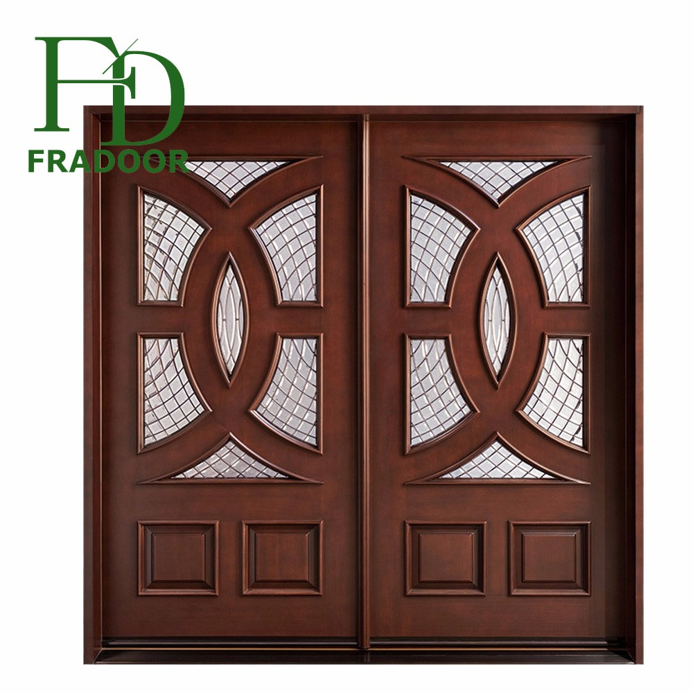 Direct Factory Double Swing Interior Decorative Bathroom Wood Doors