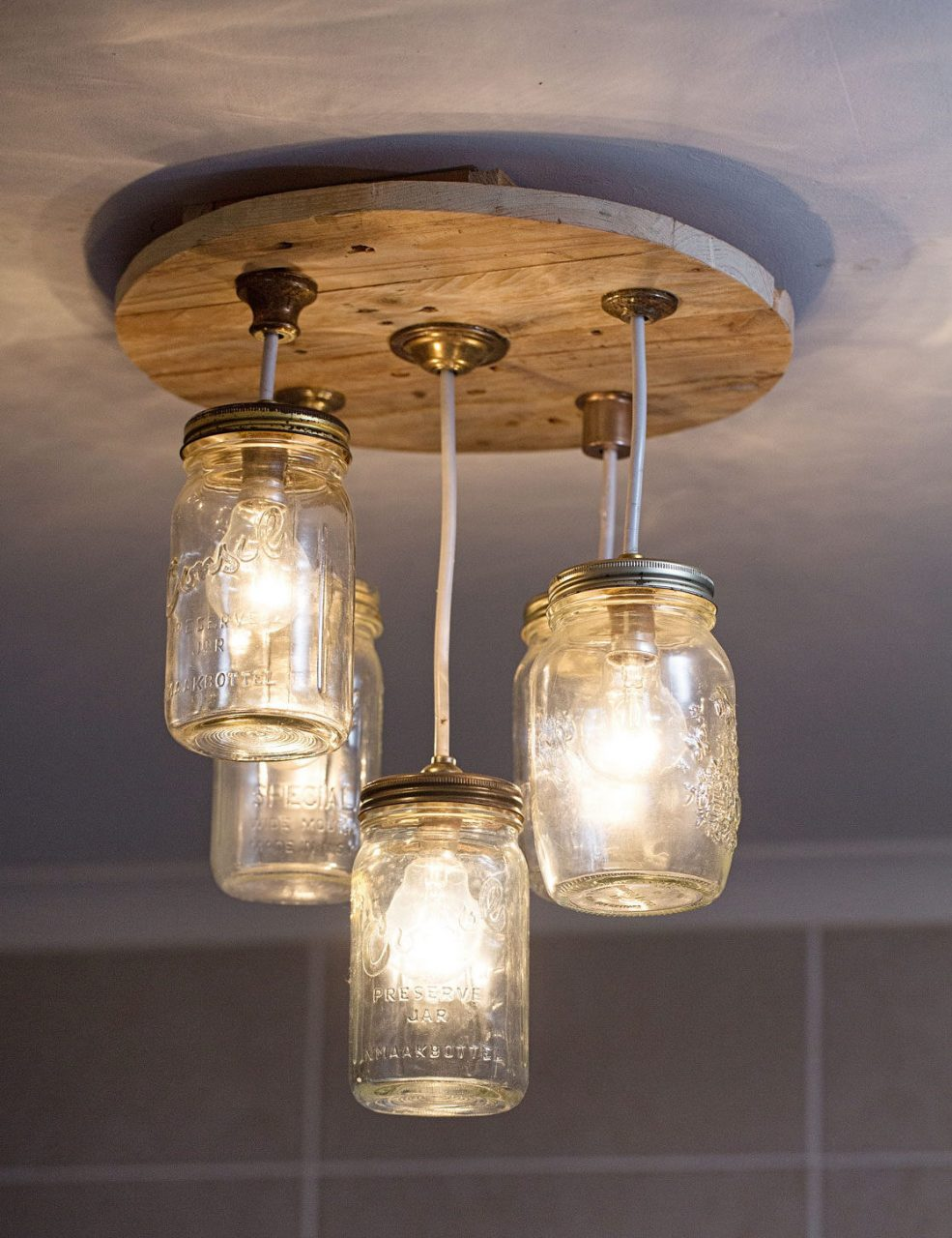 Diy Mason Jar Chandelier Sa Garden And Home