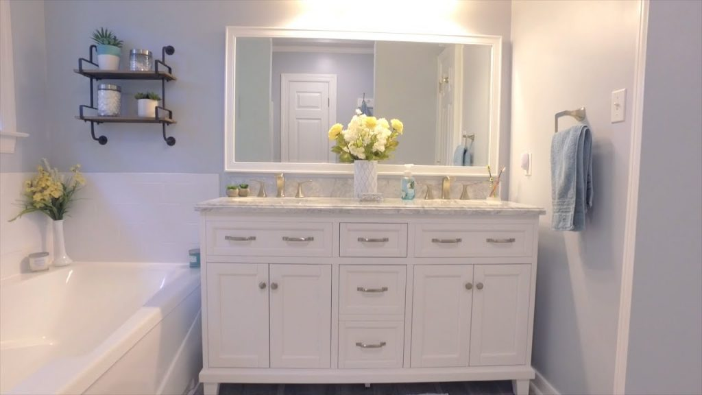 Diy Master Bathroom Reno For A Fraction Of What The Pros Cost Youtube