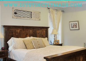 Pottery Barn Farmhouse Bed DIY