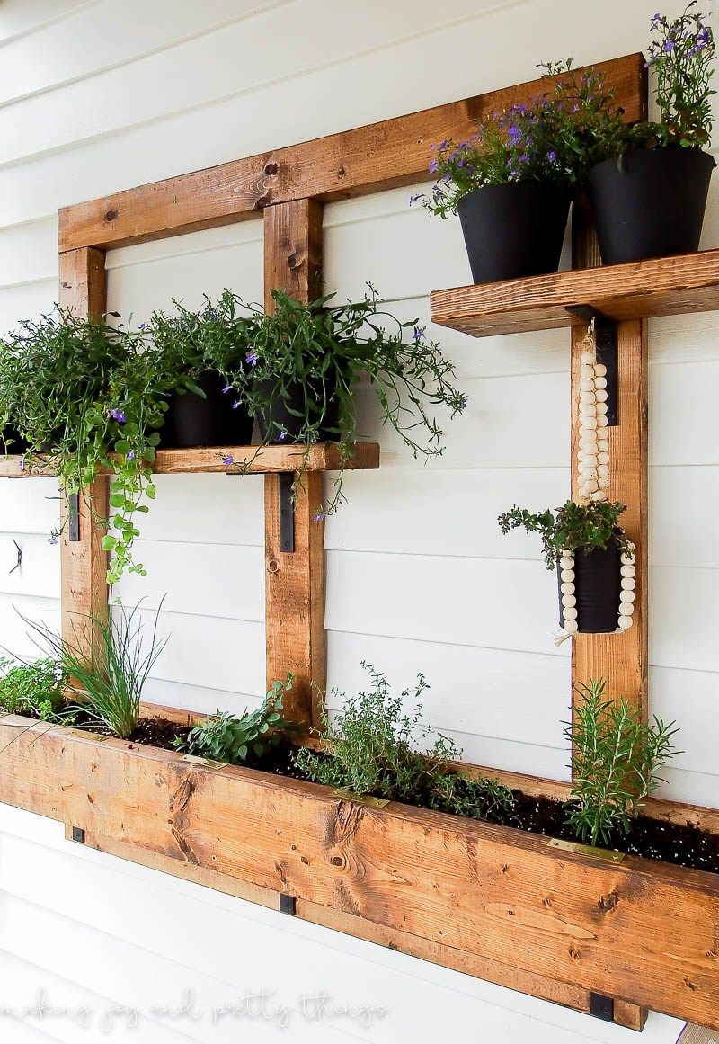 Diy Vertical Herb Garden And Planter 2x4 Challenge Flowers