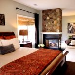 Download Neat Design Master Bedroom Ideas With Fireplace