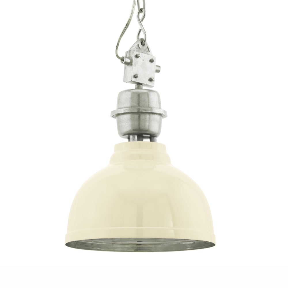 Eglo 49172 Grantham Cream Vintage Industrial Pendant Light