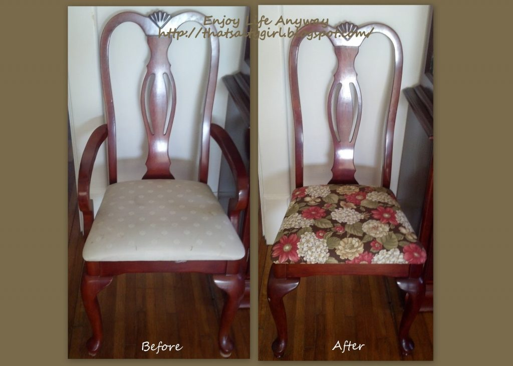 Enjoy Life Anyway Diy Recover Your Dining Room Chairs For Under 1500