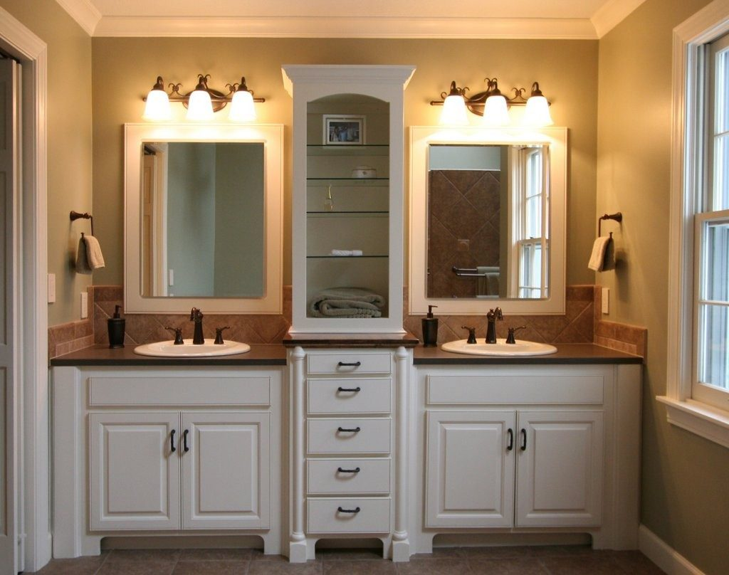 Exciting Master Bathroom Design Features White Wooden Bathroom