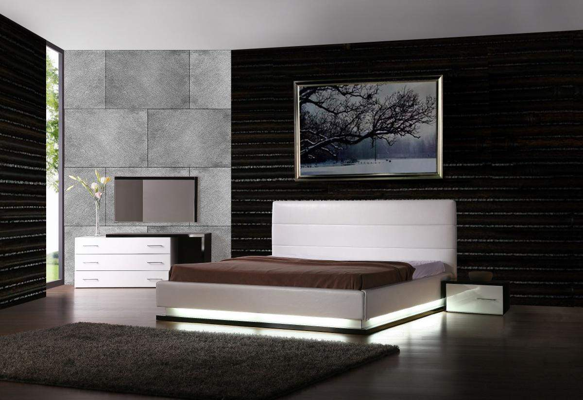 Exotic Leather Modern Contemporary Bedroom Sets Feat Light Jersey Layjao