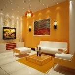 Eye Catching Small Apartment Living Room Idea With Cute Yellow White