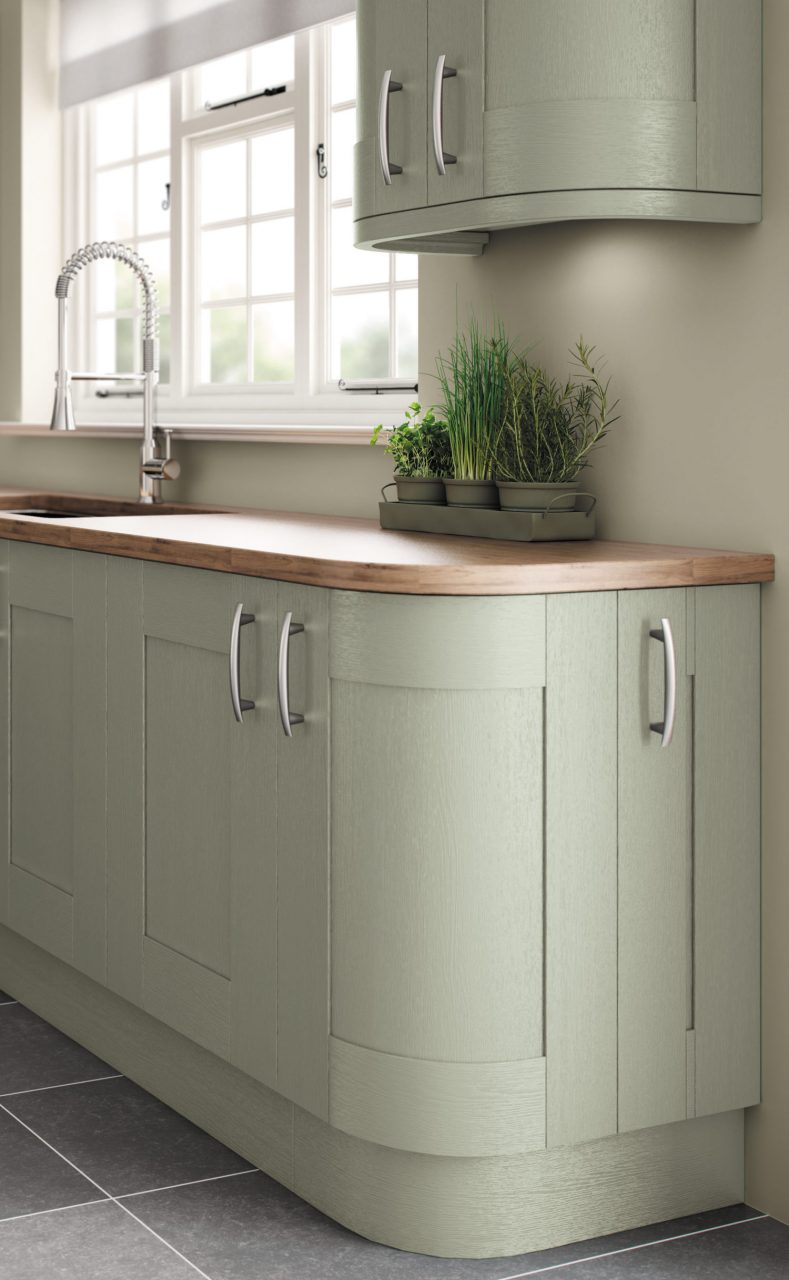 Fairford Painted Sage Green Pebble Kitchens