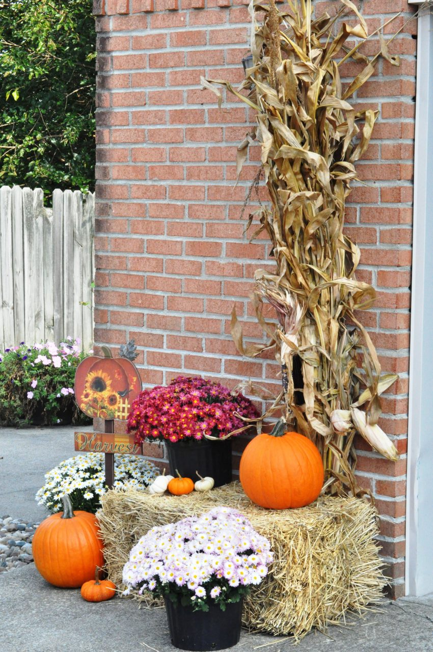 Fall Decor Outdoor Fall Leaf Garland Harvest Yard Decorations