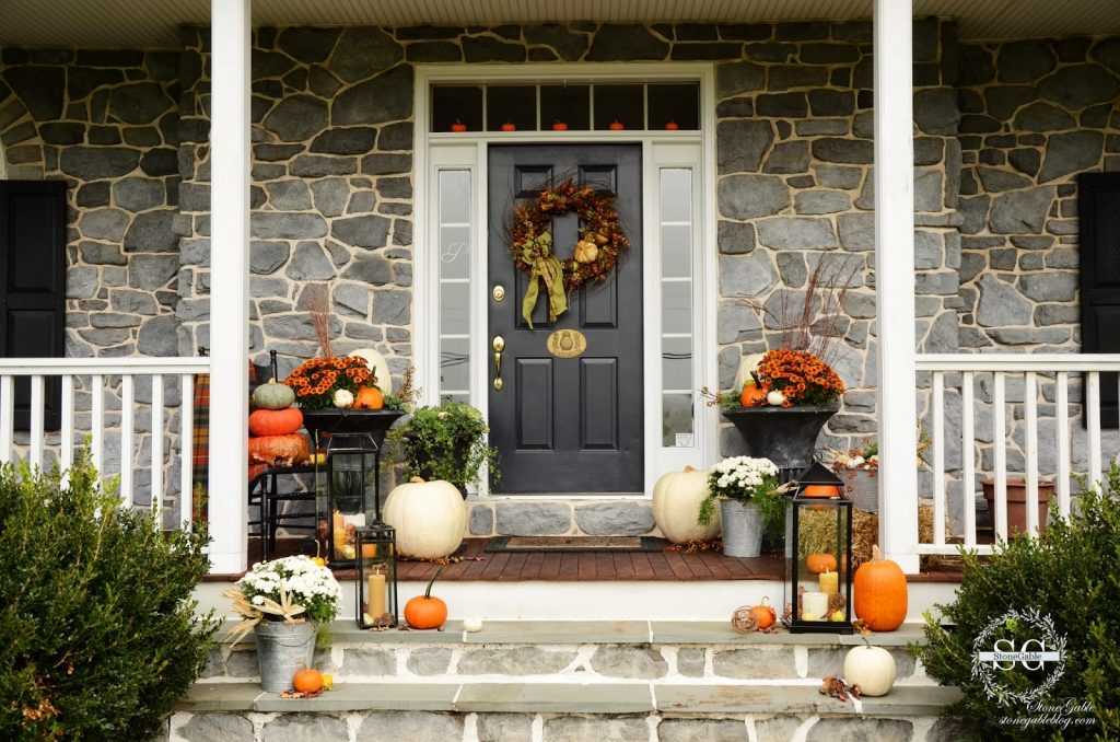 Fall On The Front Porch Stonegable