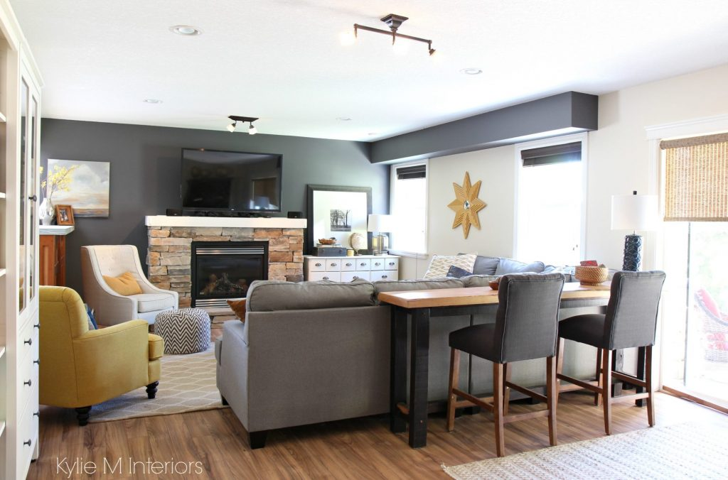 Family Room Decorating Ideas With Tv Over Stone Fireplace Gold