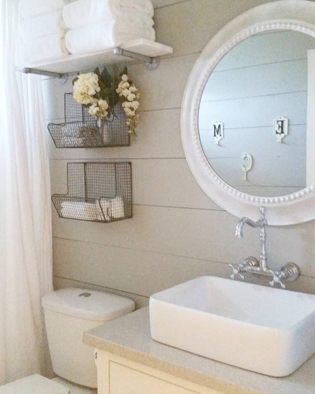 Farmhouse Bathroom Remodel Diy Shiplap Before And After Of Our