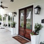 Farmhouse Country Style Door I Love The Contrast Of The White