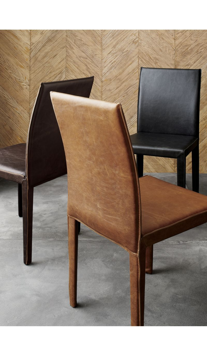 Folio Saddle Top Grain Leather Dining Chair Products Leather