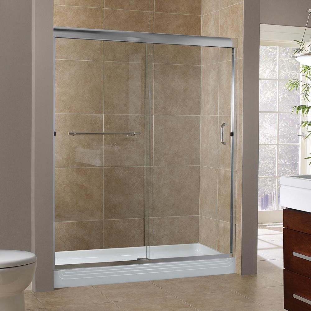 Foremost Marina 48 In X 76 In H Semi Framed Sliding Tub Door In